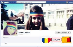 Facebook profile Sabina Elena
