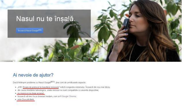 google nose ajutor