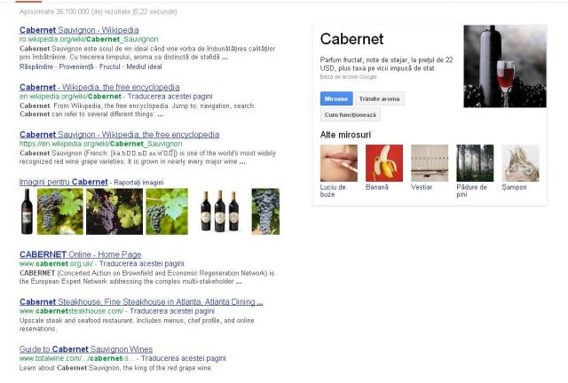 google nose cabernet