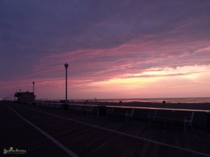boardwalk sunrise ocean city