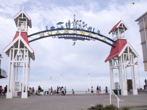Ocean city boardwalk entrance